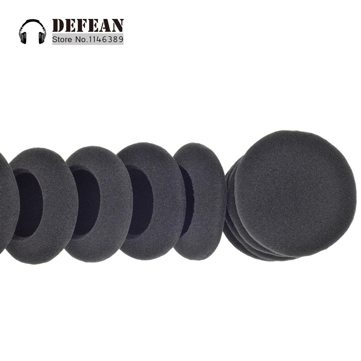 Almohadón negro de espuma de 10 Uds para koss pp sp ksc35 ksc75 portapro headphoneFree shipping alistore