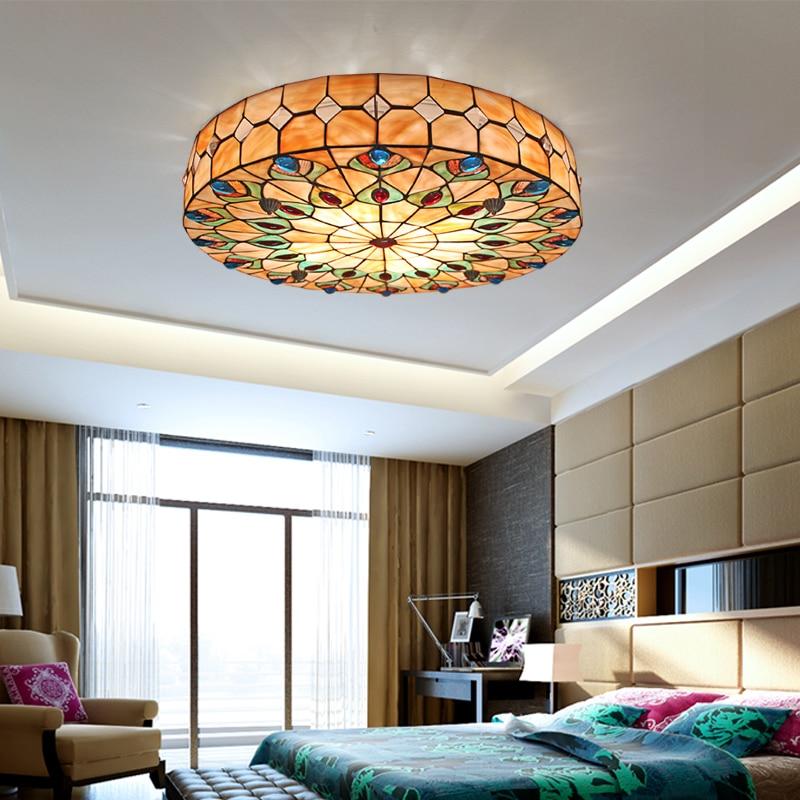 Tiffany vidrieras Techo Luz sala de estar dormitorio balcón pasillo hogar jardín luz de techo 50 cm