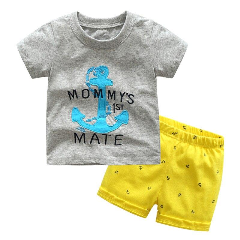 Heißer verkauf Baby baumwolle Boy set Sommer Kleidung Kinder Babys Jungen Kleidung Sets Anzug Kind Vetement Kostenloser Versand