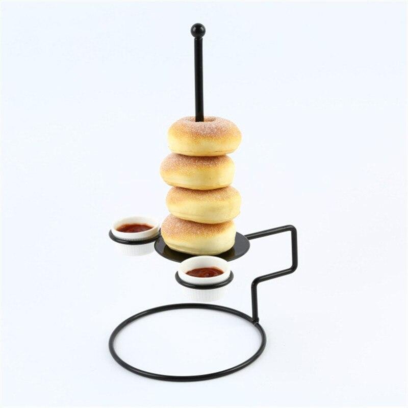 Características da primavera pão torre de frango rack 1 pçs comida rack 2 copos molho utensílios de mesa suprimentos alimentos donuts cebola cintas de tijolo