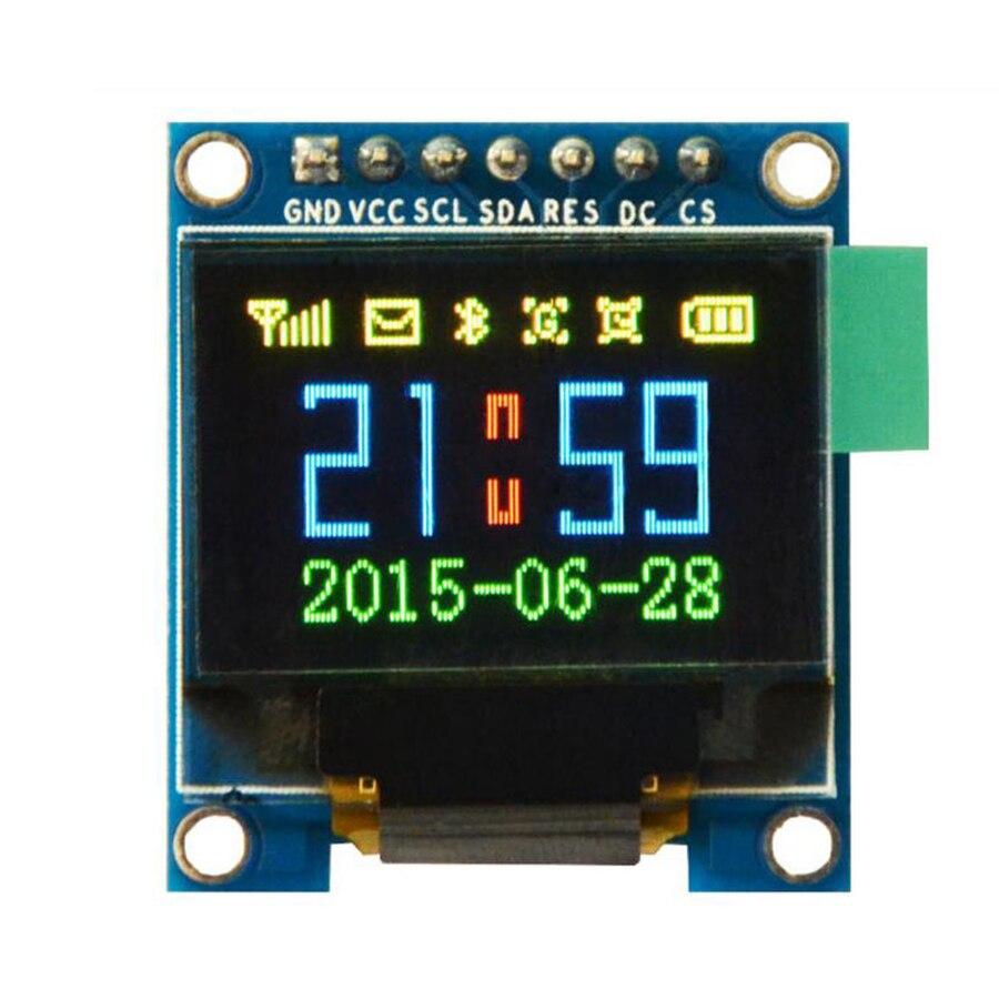 Envío gratis 2 unids/lote 0,95 pulgadas 7 pines a todo Color 65K Color ssd1331 pantalla OLED 3,3 v 5v Serial SPI pequeño módulo LCM para 51