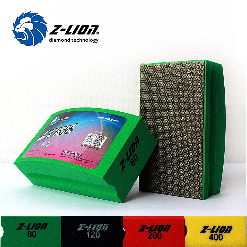 Z-LION 1 Piece Hand Polishing Pad Diamond Electroplate Polishing Pad Glass Ceramic Tile Polishing And Grinding Diamond Hand Tool