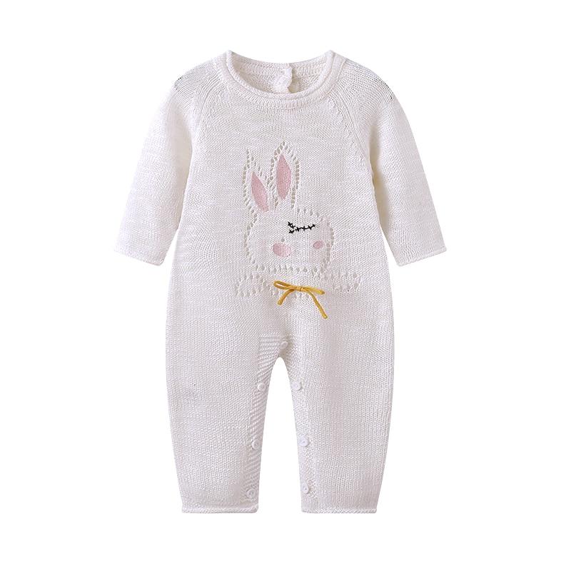 Детский вязаный свитер Auro table infantil для новорожденных, комбинезон, милая детская одежда с кроликом, Одежда для новорожденных