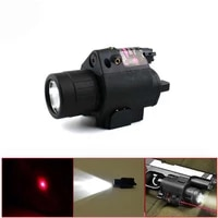 tactical hunting 2in1 combo led flashlight light red dot laser sight for pistol airsoft shooting laser sight scope 20mm rail