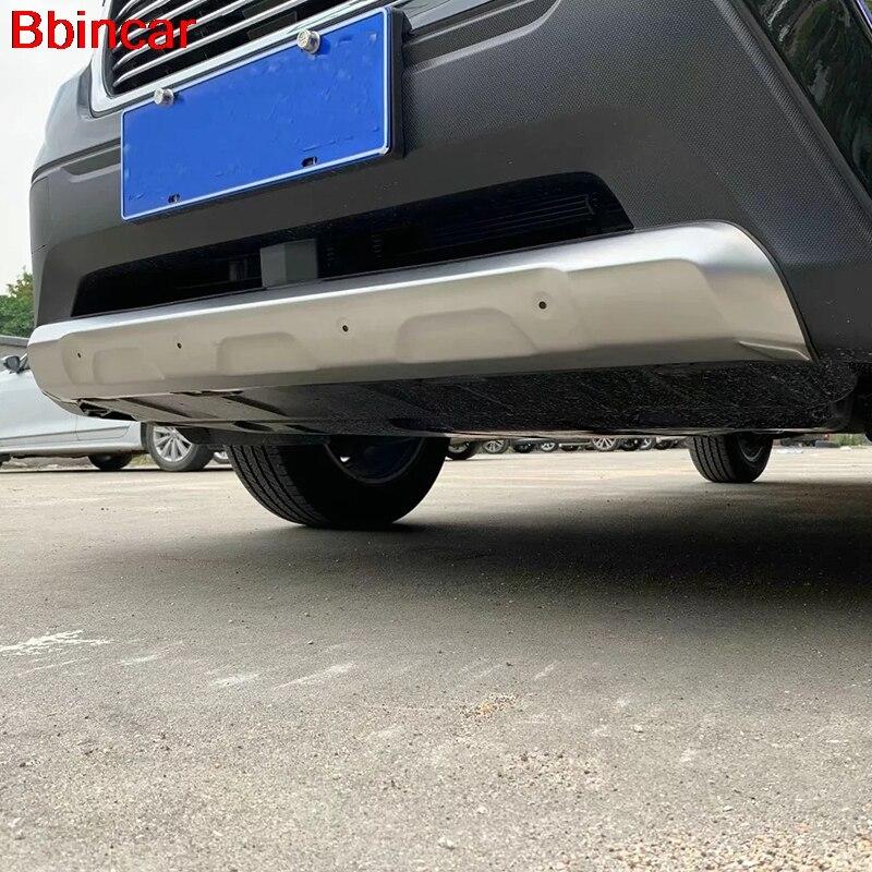 Bbincar para Subaru Forester SK 2018 2019 accesorios exteriores parachoques delantero + trasero decoración Protector cubierta embellecedora de acero inoxidable