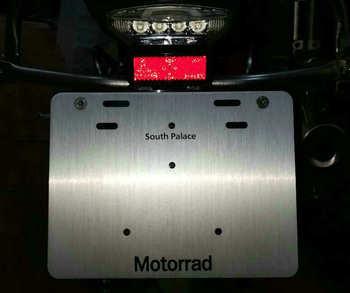 bike GP FOR BMW C650GT R1200GS LC R1250GS ADV GSA adventure License plate holder Aluminum oxidation