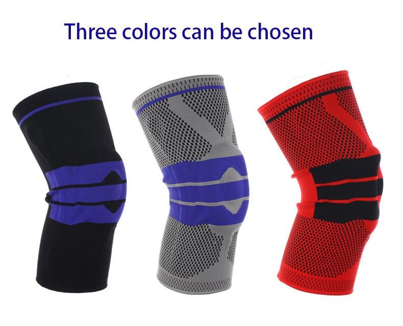 Venda quente suporte de basquete silicone acolchoado joelheiras suporte cinta menisco patella protetor esportes proteção de segurança joelheira