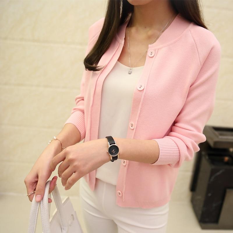 Горячая Распродажа Модный повседневный женский весенне осенний кардиган с
