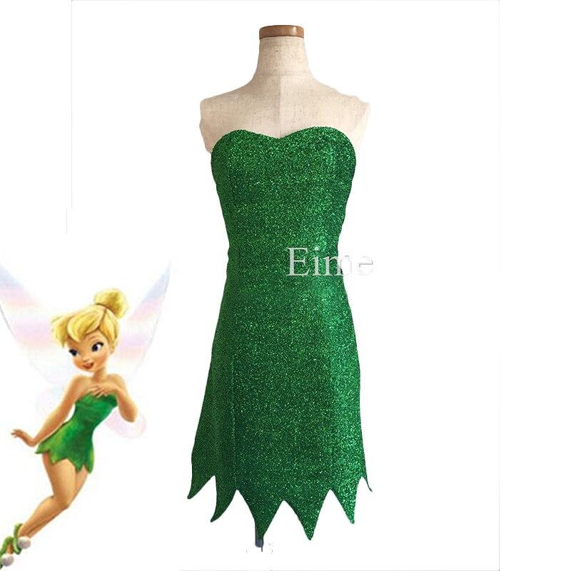 Tinkerbell vestido fantasia cosplay traje adulto verde fada cosplay vestido bonito halloween carnaval vestidos
