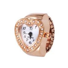 Stylish Jewelry Fashion Women men Dial Quartz Analog Watch Creative Steel Cool Elastic Quartz Finger Ring Watch  Dropship