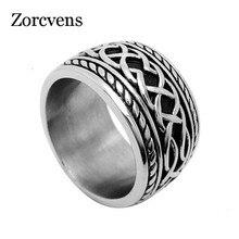 ZORCVENS rétro Punk anneaux pour hommes nouveauté mode bijoux accessoire en acier inoxydable coulée mâle anneaux anneau de doigt