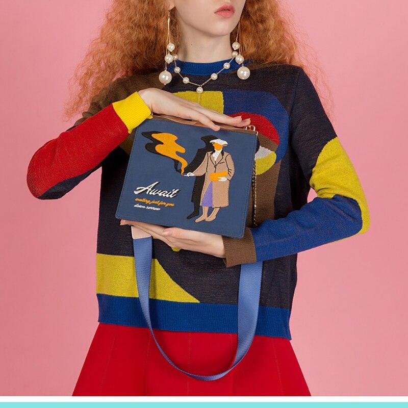 Новый оригинальный дизайн, винтажные сумки с узором, женские сумки через плечо, маленькие сумки с металлической застежкой
