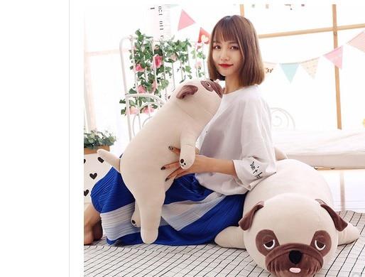2019 new arrival  55cm -90cm Cute Animal Kawaii Dog Baby Sleep pillow for Birthday Gift