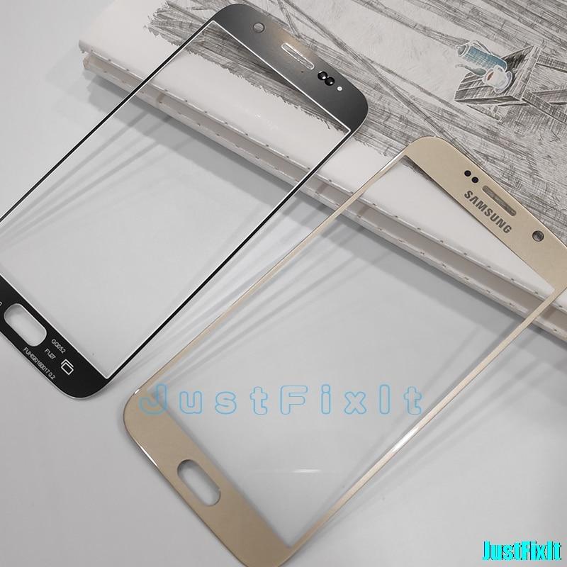 Para Samsung S6 G920A G920F G920p LCD pantalla exterior panel táctil reemplazo de cristal + pegatinas + herramientas Lente de Cristal frontal
