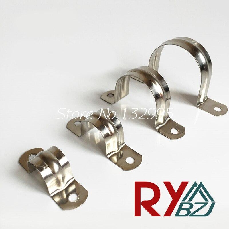 Pince à selle SUS304 en acier inoxydable   Pinces Ohm en forme de U, pince à tuyau 5mm-100mm 20 pièces/lot
