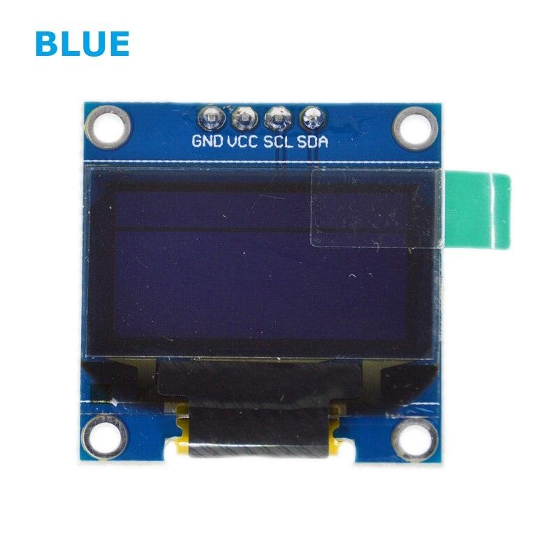 "0,96 pulgadas azul OLED LCD Módulo De Pantalla Led CII comunicarse 0,96 ""128X64 compatible con arduino"
