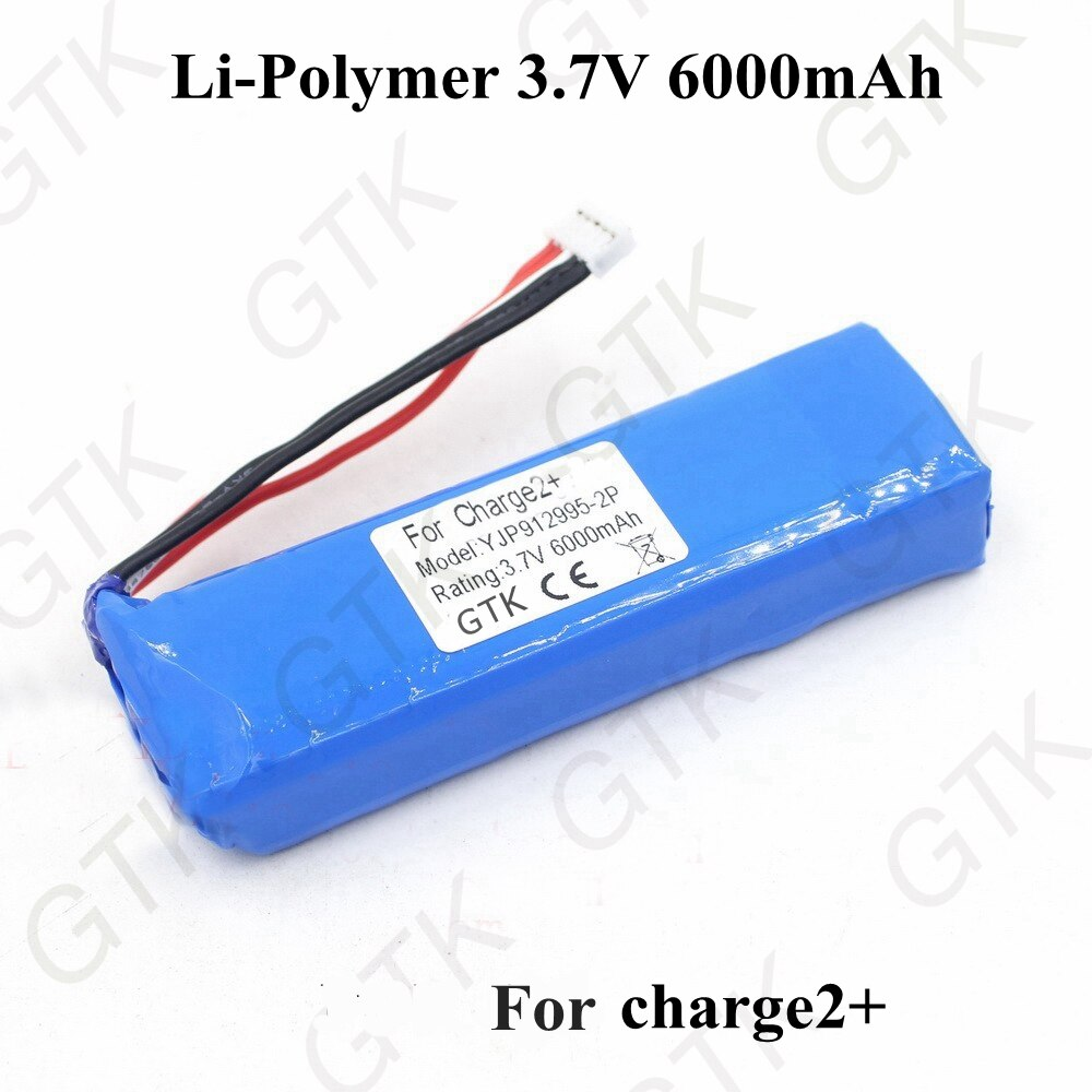 GTK 3.7v 6000mah lithium li-polymer battery 3.7v gsp1029102 for charge2+ bluetooth wireless speaker battery + free shipping