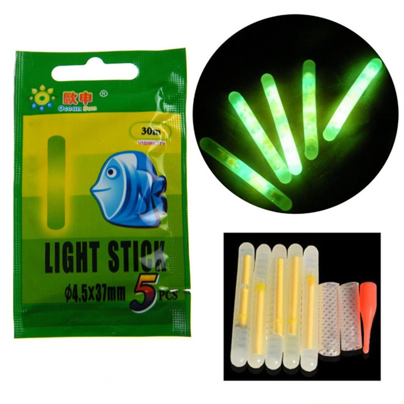 Flotador de 50 Uds o 25 uds., luz de Varita luminosa fluorescente, flotador nocturno, caña de pescar, luces, lámpara química oscura, útil lote de pesca de noche