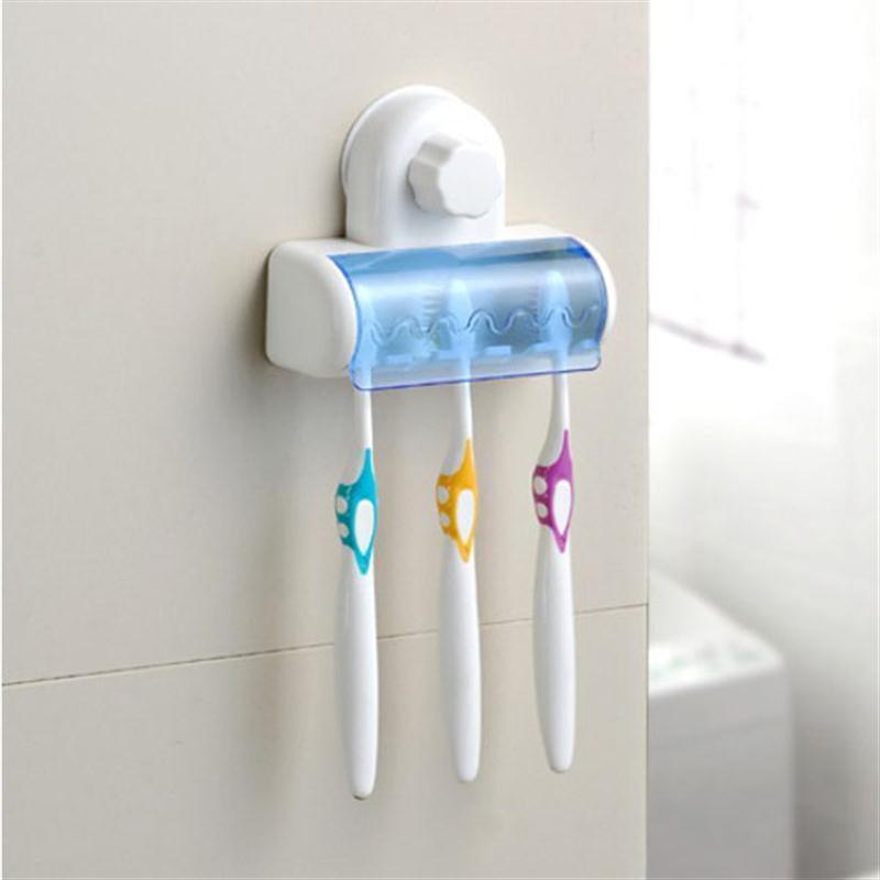 Ounona portátil 5-slot dustproof casa banheiro escova de dentes spinbrush sucção titular suporte conjunto