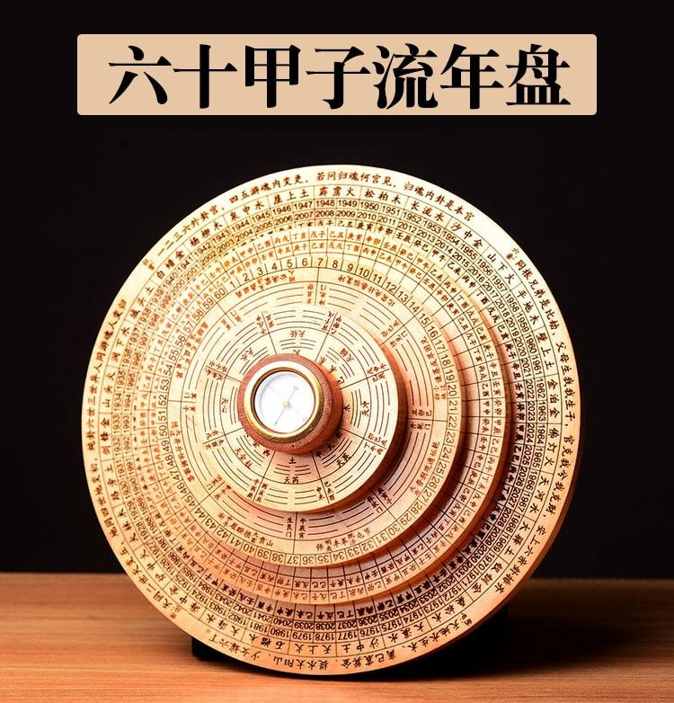 Tableau de transit des casseroles géomantique   Outil maître, asie domestique efficace JIN MU SHUI HUO TU, 8 diagrammes Yin Yang FENG SHUI boussole LUO PAN