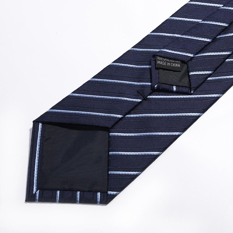 Brand Men Accessories 2018 Fashion England Style men zip neck ties formal suit ties for men business men ties stripes ties 8cm