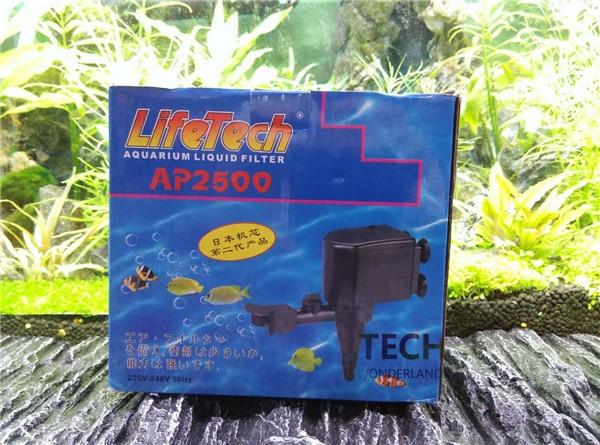 JEBO LIFETECH, filtro de líquido para acuario, bomba sumergible tres en uno AP2500 AP-2500 2000L, bomba de Tanque De Agua para peces, bomba de cambio de agua