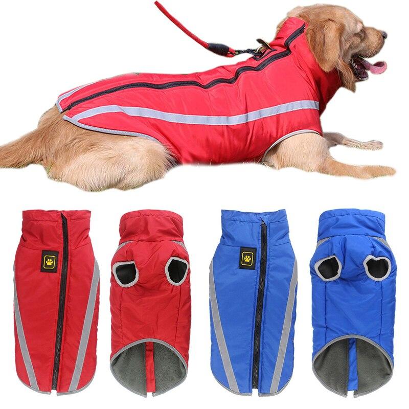 Chaleco de invierno para perros grandes, chaqueta impermeable para perro mascota reflectante, ropa para perros grandes, Golden Retriever Pitbull, ropa para mascotas
