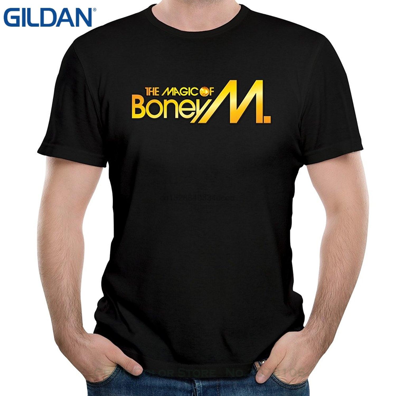 Gran oferta, camiseta a la moda para hombre, camisetas de manga corta de banda de Rock Boney M Rasputin Song