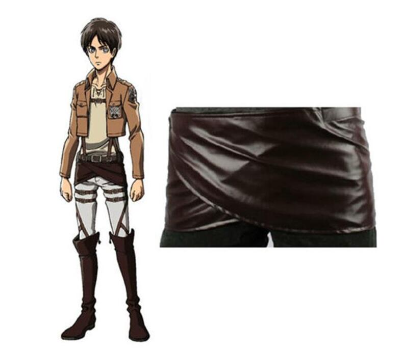 1 Pc Cos Cosplay Attack on Titan Shingeki no Kyojin Leather Skirt Hookshot Costume Lucky S-XL