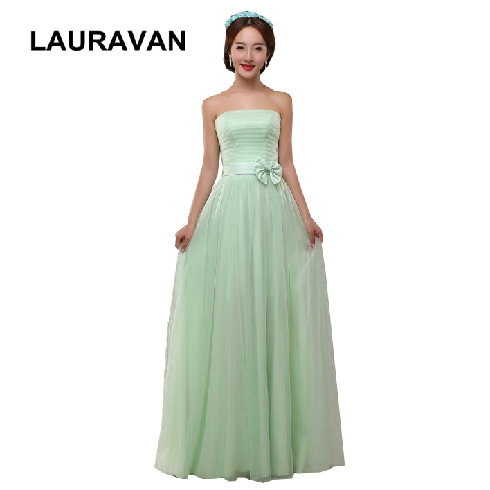 Robe de soiree elegante 2019 novas meninas dresse sem alças hortelã verde vestidos para festa deusa grega vestido de dama de honra vestido de baile