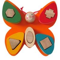Butterfly geometry shape multicolour toy building blocks educational toys set