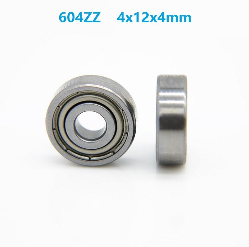 500 pçs/lote 604ZZ 604Z 604 Z ZZ rolamento 4x12x4 milímetros Esferas Profundos do Sulco do rolamento de Esferas Em Miniatura Mini 4*12*4mm para 3D peças da impressora