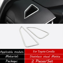 Acier inoxydable pour Toyota corolla 2019 2020 voiture avant petite sortie dair décoration couverture garniture voiture style accessoires 2 pièces