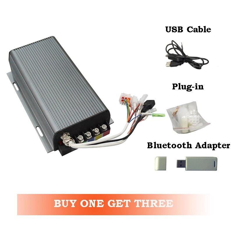 Siaecosys 100A Sabvoton SVMC72100 وحدة تحكم BLDC معتمدة من CE للدراجة الكهربائية مع محول بلوتوث