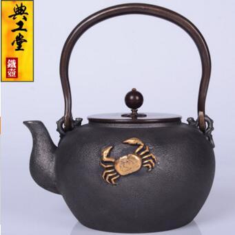 2018 новый стиль 1.2л железный горшок Орхидея Золотой Краб железный горшок японский железный горшок Южная свинья чайник