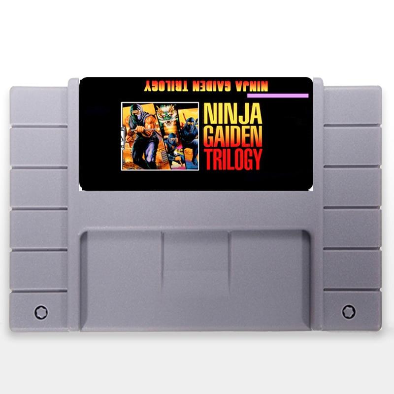 Ninja Gaiden Trilogia EUA Versão 16 pouco Grande 46 pinos Cinza Cartão de Jogo Para O Jogador Do Jogo NTSC