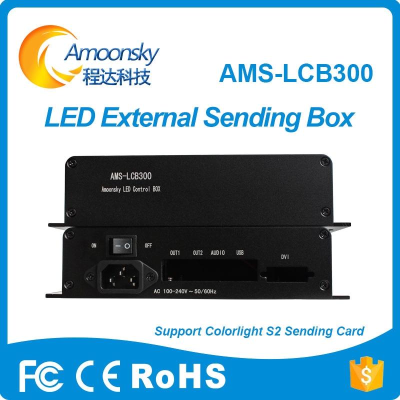 Amoonsky, producto en oferta, AMS-LCB300, compatible con colorlight S2, tarjeta de envío...