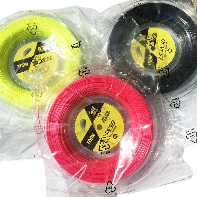 1 carrete TAAN TS5850 cuerdas de tenis giro poliéster 10-ángulo cuerdas de línea dura 1,20mm cuerda de raqueta de tenis 200M big banger