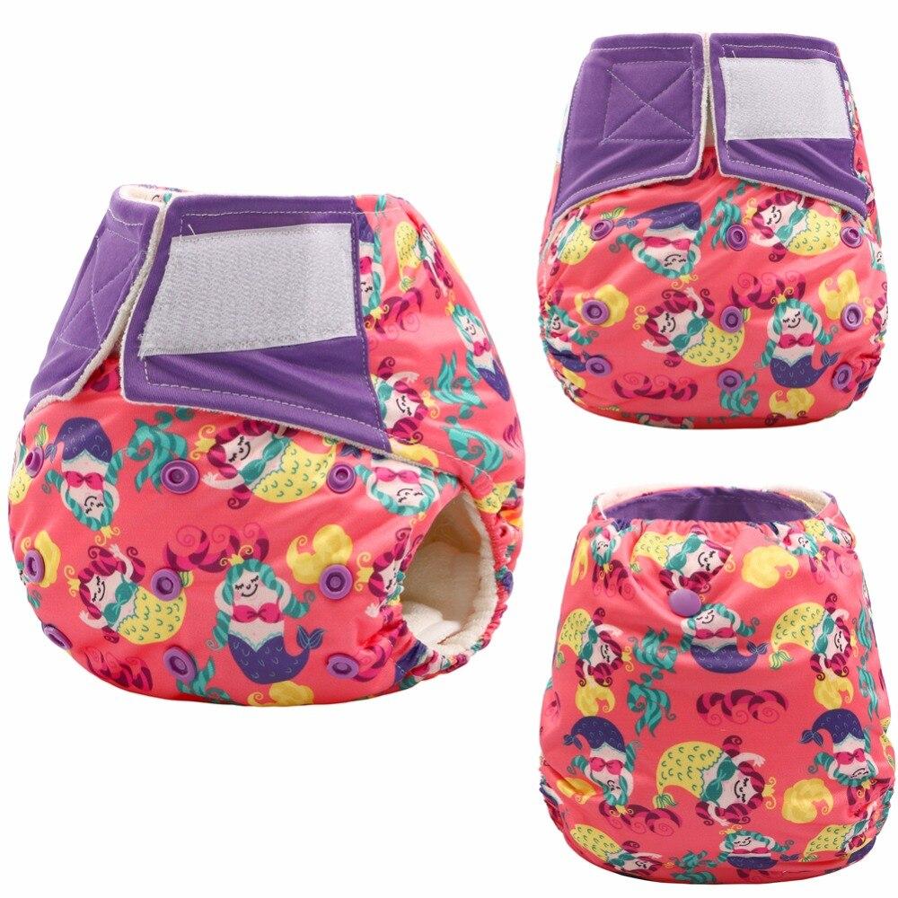 Pañal reutilizable de bolsillo JinoBaby, pañales de bebé de talla única, pantalones de bambú (recién nacido a 30 libras)