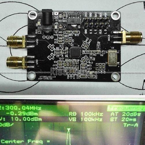 Tablero de desarrollo de sintetizador de frecuencia de fuente de señal RF PLL ADF4351 35M a 4,4 GHz