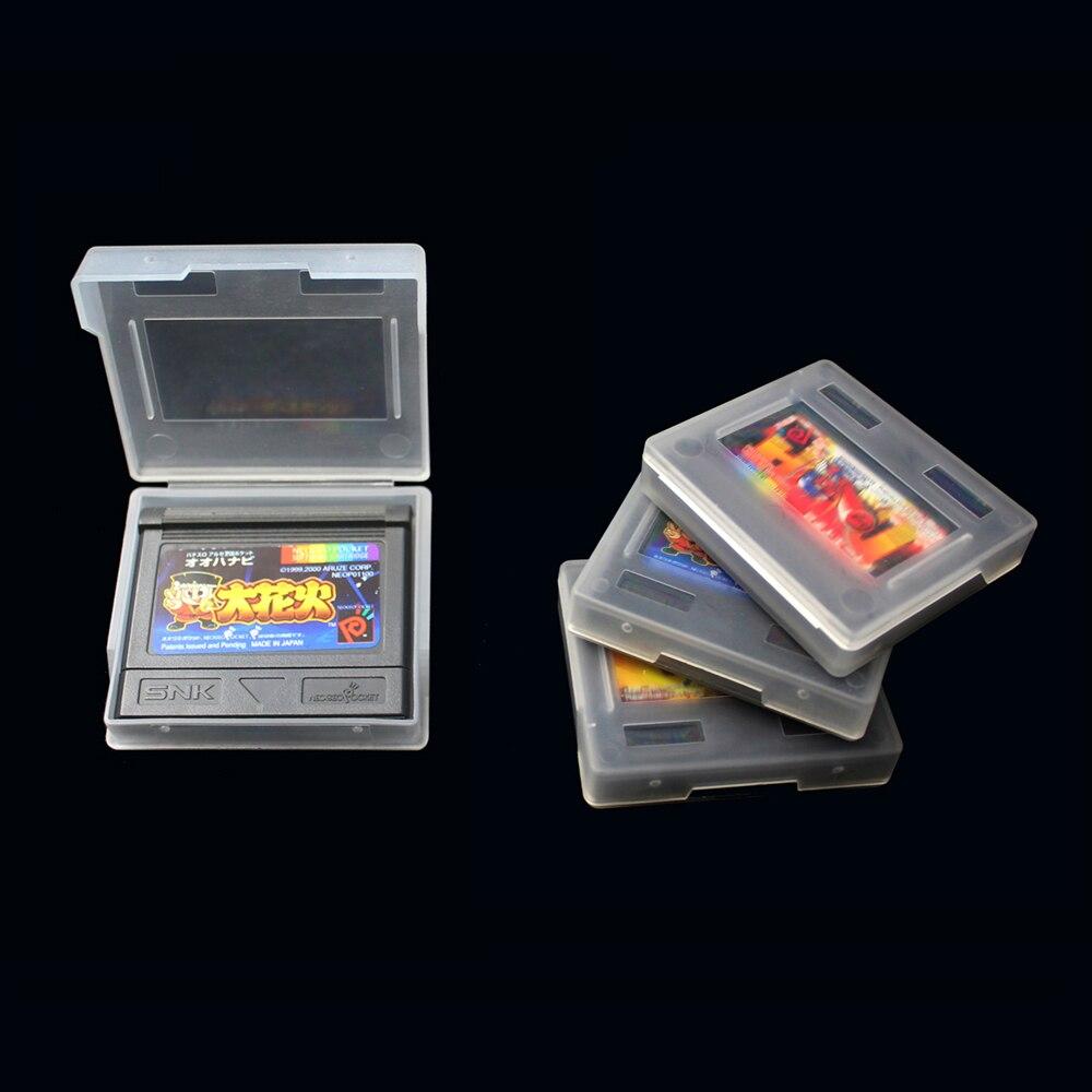 100 Uds. Para SNK NeoGeo Pocket color N G P C plástico transparente cartucho de juego caja carcasas Carcasa protectora