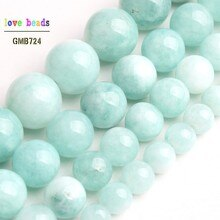Blue Angelite Stone Beads Amazonite Round Beads for Jewelry Making DIY Bracelet Necklace 15'' strand 6/8/10/12mm