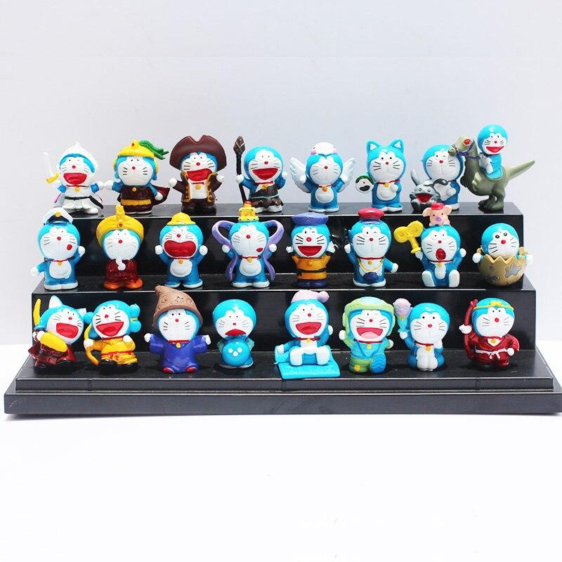 High quality 3-4cm  Doraemon figures Nobita Nobi Figure PVC Dolls Shizuka Minamoto Takeshi Goda Dorami Doranikov