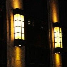 Biblioteca do museu moderno LEVOU lâmpada de parede ao ar livre loja de café do hotel arandela ao ar livre IP55 à prova d água LEVOU dispositivo elétrico de iluminação da paisagem lâmpada ao ar livre parede varanda