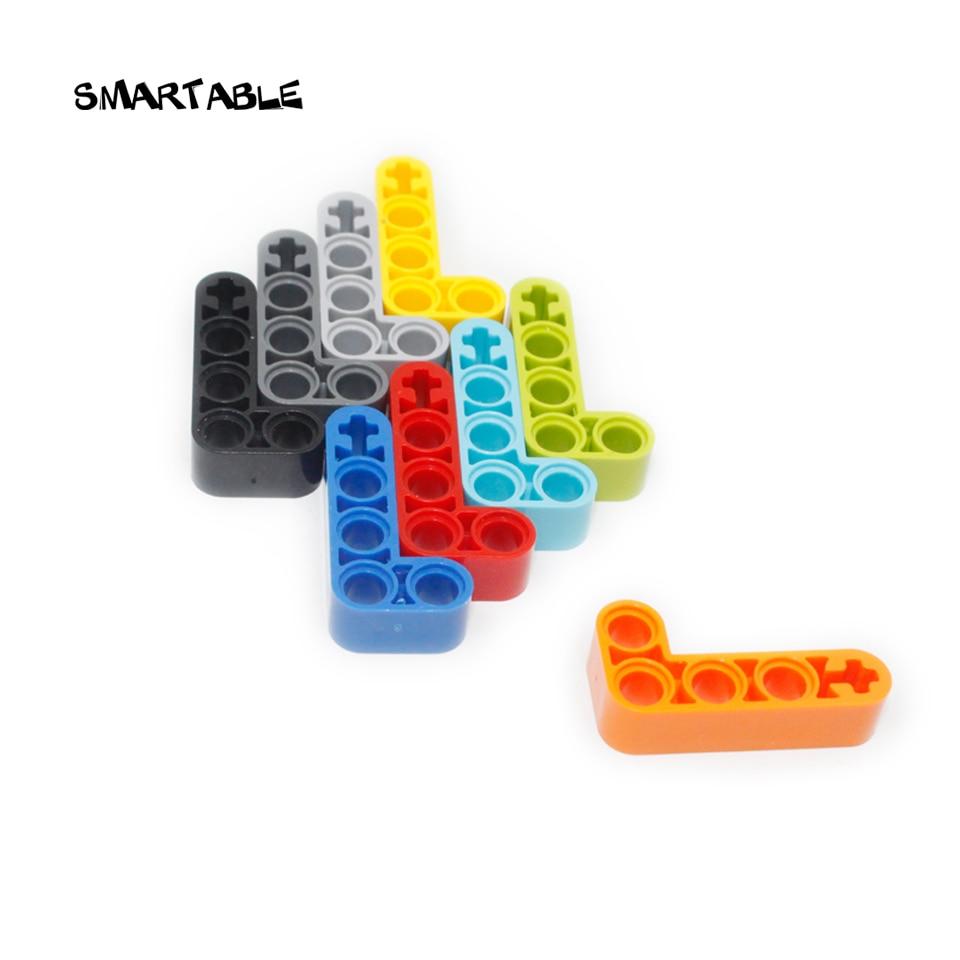 Smartable High-Tech Beams Liftarm 2x4 Building Block Parts Toys For Kids Educational Creative Compatible 32140 MOC 50pcs/lot