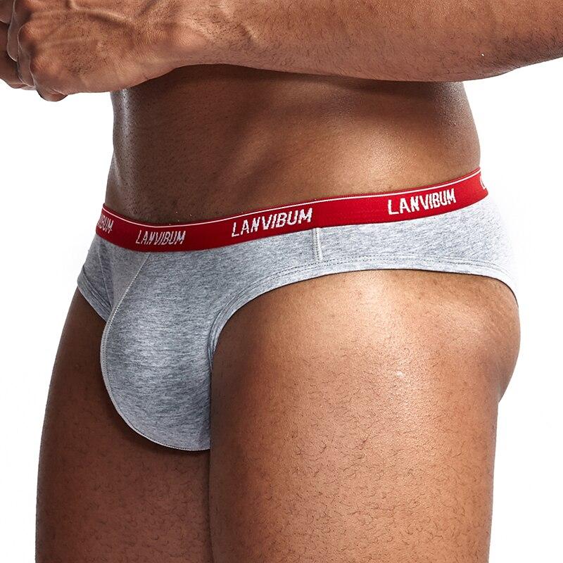 LANVIBUM сексуальные мужские трусы для бикини, гей, с мешочком для пениса, с низкой талией, хлопок, удобные, тонкие мужские маленькие трусы, нижне...