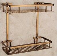 Wall Mounted Antique bronze Alumimun Bathroom Soap Basket Bath Shower Shelf Bath shampoo shelf Basket Holder building materia
