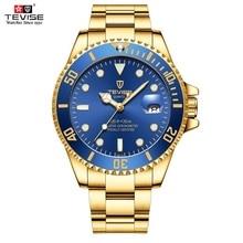 Mens Watches TEVISE Quartz Wrist Watch Waterproof Date Sport Business Clock Fashion Luxury Wristwatc