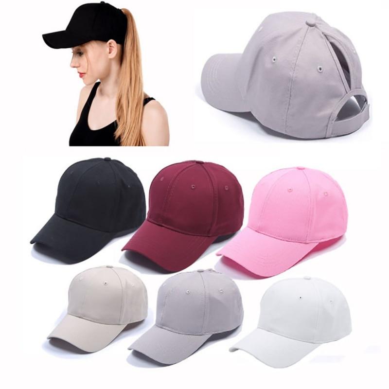 Gorra de tenis de color liso, gorra deportiva para mujer, gorro desordenado de verano, gorras de malla ajustables para correr, deportes, gorras de ciclismo para triangulación de envíos