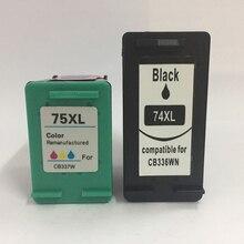 Vilaxh 2 stücke 74xl 75xl kompatibel für hp 74 75 tinte patrone ersetzen für hp PhotoSmart C4200 C4210 C4380 C4583 C4494 C4493